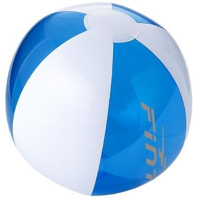 Picture of BONDI SOLID AND CLEAR TRANSPARENT BEACH BALL in Clear Transparent Blue-white Solid