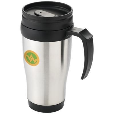 Picture of SANIBEL 400 ML THERMAL INSULATED MUG in Silver-black Solid