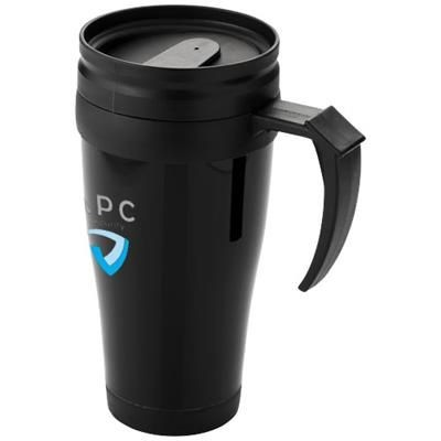 Picture of DAYTONA 440 ML THERMAL INSULATED MUG in Black Solid