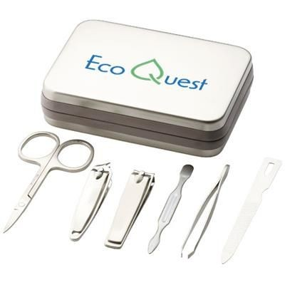 Picture of CLIP-IT 6-PIECE MANICURE SET in Silver