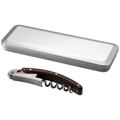 MORRIS WOOD WAITRESS KNIFE in Tin Case in Silver