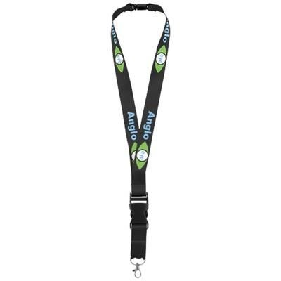 Picture of YOGI LANYARD DETACHABLE BUCKLE BREAK-AWAY CLOSURE in Black Solid