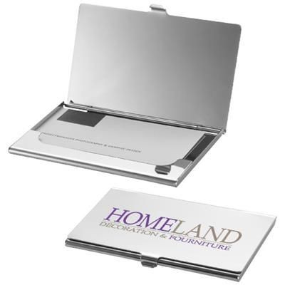 Picture of NEW YORK BUSINESS CARD HOLDER with Mirror in Silver