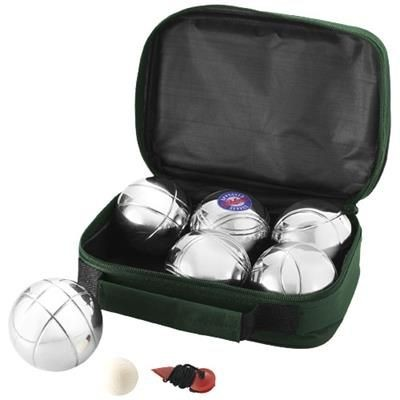 Picture of HENRI 6-BALL PÉTANQUE SET in Green-silver