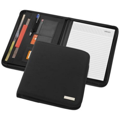 Picture of STANFORD A4 ZIPPERED PORTFOLIO in Black Solid