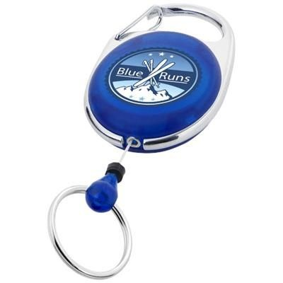 Picture of GERLOS ROLLER CLIP KEYRING CHAIN in Blue