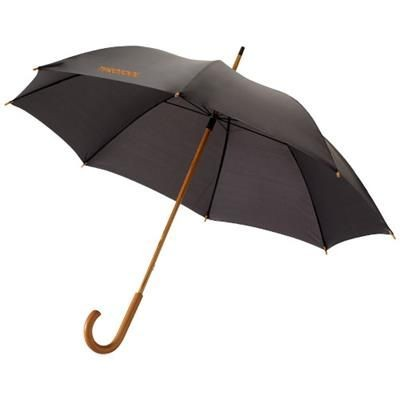Picture of JOVA 23 UMBRELLA with Wood Shaft & Handle in Black Solid