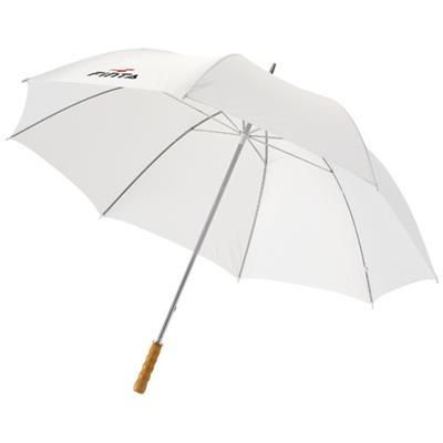Picture of KARL 30 GOLF UMBRELLA with Wood Handle in White Solid