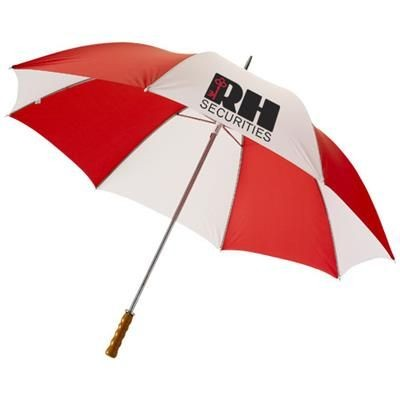 Picture of KARL 30 GOLF UMBRELLA with Wood Handle in Red-white Solid