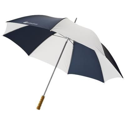 Picture of KARL 30 GOLF UMBRELLA with Wood Handle in Navy-white Solid