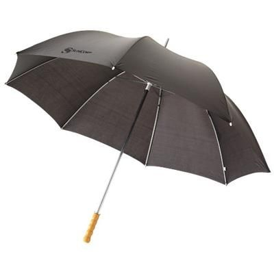 Picture of KARL 30 GOLF UMBRELLA with Wood Handle in Black Solid