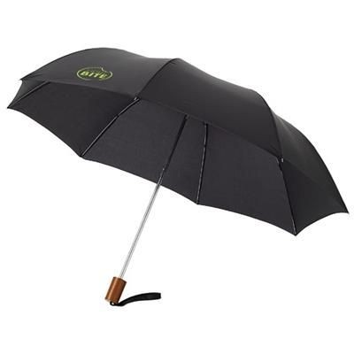 Picture of OHO 20 FOLDING UMBRELLA in Black Solid