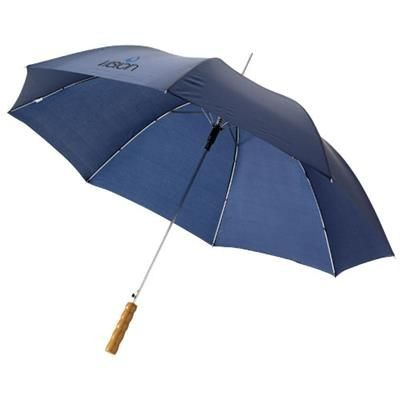 Picture of LISA 23 AUTO OPEN UMBRELLA with Wood Handle in Navy