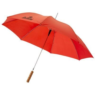 Picture of LISA 23 AUTO OPEN UMBRELLA with Wood Handle in Red