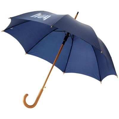 Picture of KYLE 23 AUTO OPEN UMBRELLA WOOD SHAFT AND HANDLE in Navy