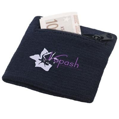 Picture of BRISKY PERFORMANCE WRIST BAND with Zippered Pocket in Navy