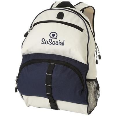 Picture of UTAH BACKPACK RUCKSACK in Navy-off-white