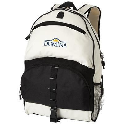Picture of UTAH BACKPACK RUCKSACK in Black Solid-off-white