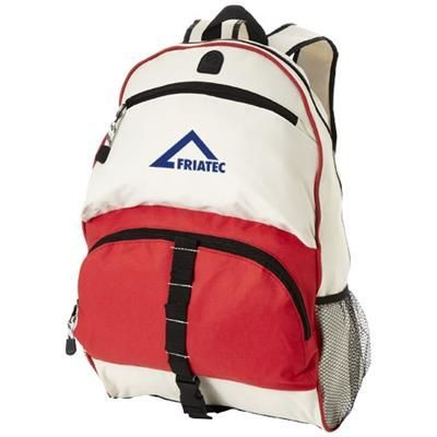 Picture of UTAH BACKPACK RUCKSACK in Red-off-white