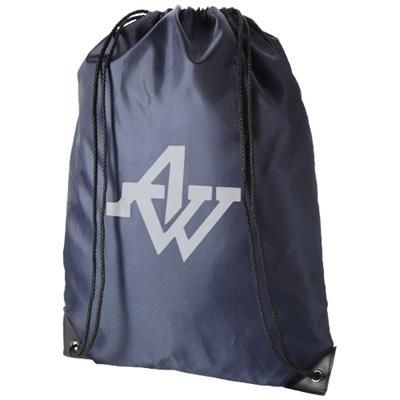 Picture of ORIOLE PREMIUM DRAWSTRING BACKPACK RUCKSACK in Navy