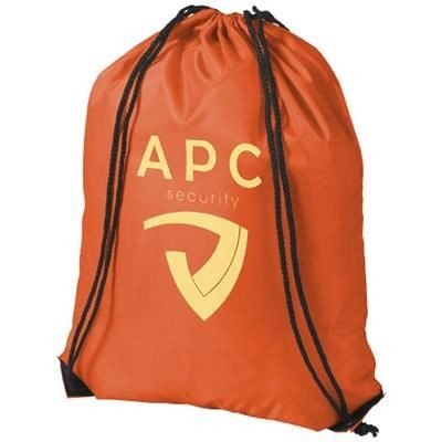 Picture of ORIOLE PREMIUM DRAWSTRING BACKPACK RUCKSACK in Orange