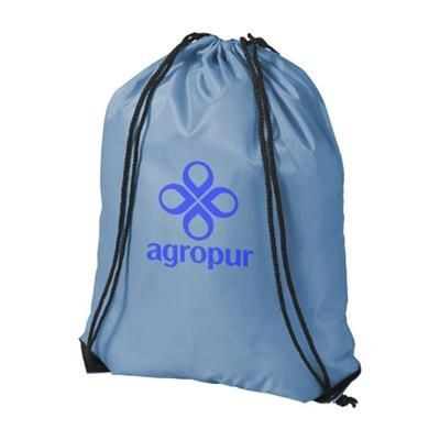 Picture of ORIOLE PREMIUM DRAWSTRING BACKPACK RUCKSACK in Light Blue