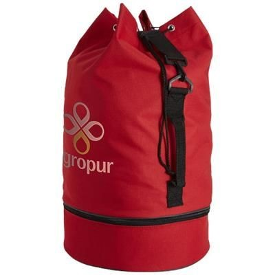 Picture of IDAHO SAILOR ZIPPERED BOTTOM DUFFLE BAG in Red