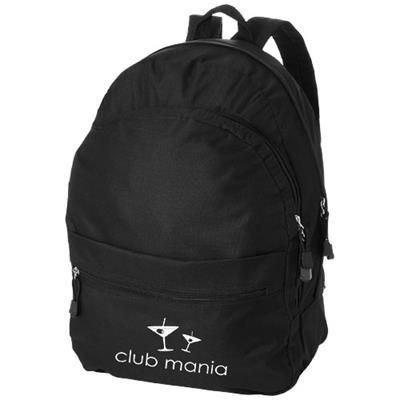 Picture of TREND 4-COMPARTMENT BACKPACK RUCKSACK in Black Solid