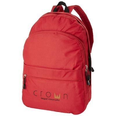 Picture of TREND 4-COMPARTMENT BACKPACK RUCKSACK in Red