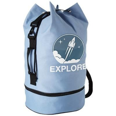 Picture of IDAHO SAILOR ZIPPERED BOTTOM DUFFLE BAG in Ocean Blue