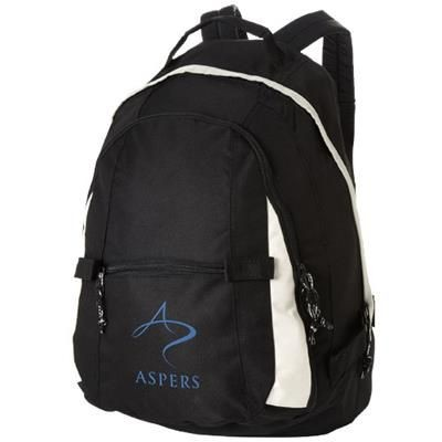 Picture of COLORADO COVERED ZIPPER BACKPACK RUCKSACK in Black Solid