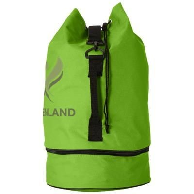 Picture of IDAHO SAILOR ZIPPERED BOTTOM DUFFLE BAG in Lime