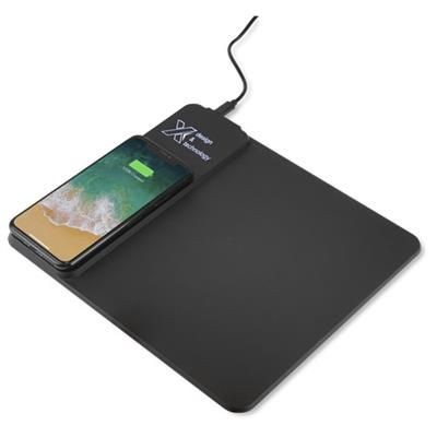 Picture of SCX DESIGN O25 10W LIGHT-UP INDUCTION MOUSEMAT in Solid Black
