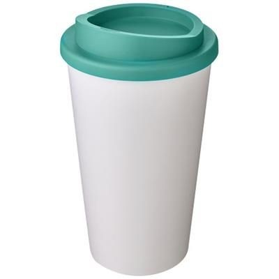 Picture of AMERICANO® 350 ML THERMAL INSULATED TUMBLER in White Solid-aqua
