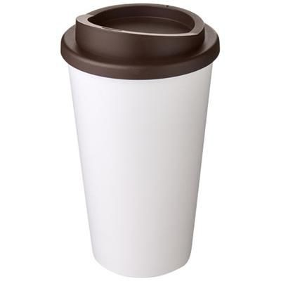 Picture of AMERICANO® 350 ML THERMAL INSULATED TUMBLER in White Solid-brown