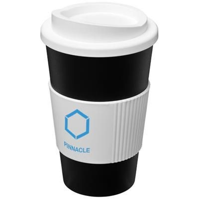 Picture of AMERICANO® 350 ML THERMAL INSULATED TUMBLER with Grip in Black Solid-white Solid