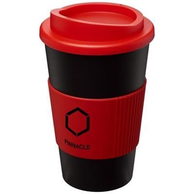 Picture of AMERICANO® 350 ML THERMAL INSULATED TUMBLER with Grip in Black Solid-red