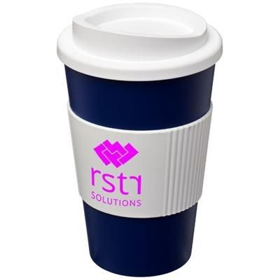 Picture of AMERICANO® 350 ML THERMAL INSULATED TUMBLER with Grip in Blue-white Solid