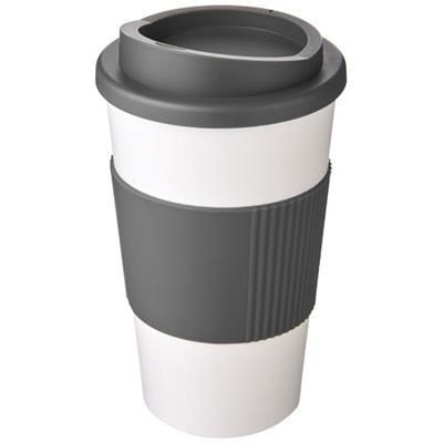 Picture of AMERICANO® 350 ML THERMAL INSULATED TUMBLER with Grip in White Solid-grey