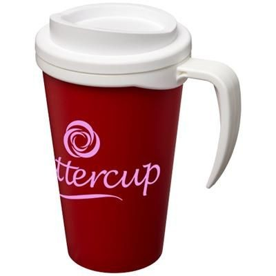 Picture of AMERICANO® GRANDE 350 ML THERMAL INSULATED MUG in Red-white Solid