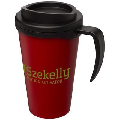 Picture of AMERICANO® GRANDE 350 ML THERMAL INSULATED MUG in Red-black Solid