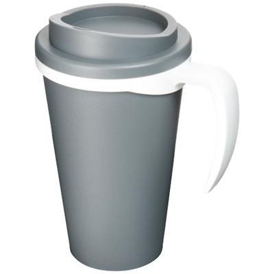 Picture of AMERICANO® GRANDE 350 ML THERMAL INSULATED MUG in Grey-white Solid
