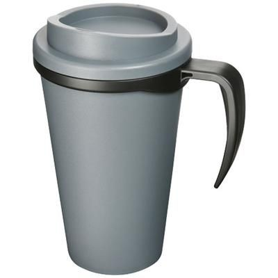 Picture of AMERICANO® GRANDE 350 ML THERMAL INSULATED MUG in Grey-black Solid