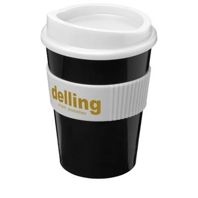 Picture of AMERICANO® MEDIO 300 ML TUMBLER with Grip in Black Solid-white Solid