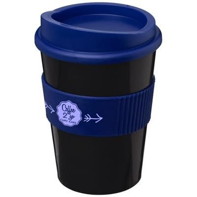 Picture of AMERICANO® MEDIO 300 ML TUMBLER with Grip in Black Solid-blue