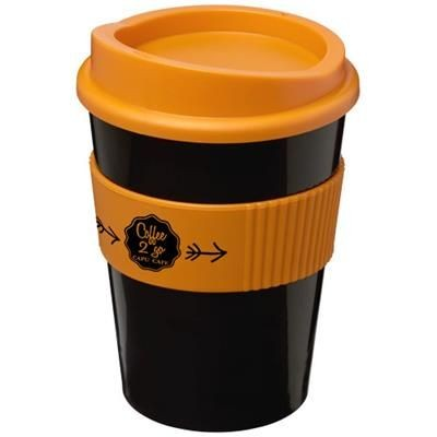Picture of AMERICANO® MEDIO 300 ML TUMBLER with Grip in Black Solid-orange
