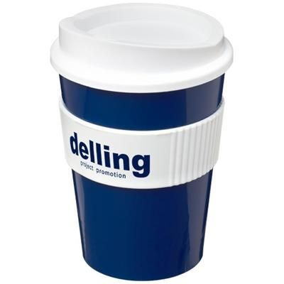 Picture of AMERICANO® MEDIO 300 ML TUMBLER with Grip in Blue-white Solid