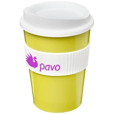 Picture of AMERICANO® MEDIO 300 ML TUMBLER with Grip in Lime-white Solid