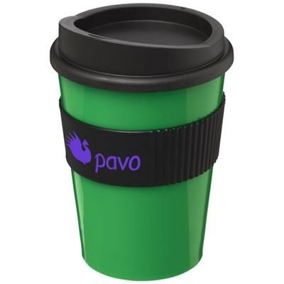 Picture of AMERICANO® MEDIO 300 ML TUMBLER with Grip in Green-black Solid