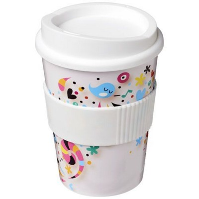 Picture of BRITE-AMERICANO® MEDIO 300 ML TUMBLER with Grip in White Solid